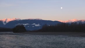 'Wi ama̱p'a̱sm hana'ax (Sleeping Beauty Mountain) in Kitsumkalum laxyuup (lands), near Terrace BC