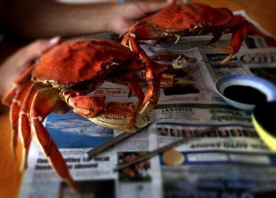 Kitsumkalum Cooked Crabs