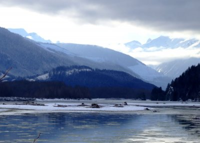 Ice on the Skeena River - Kitsumkalum