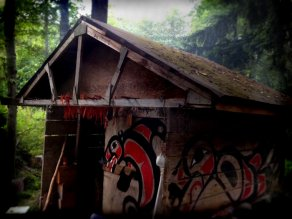 Kitsumkalum Community Member smoke house