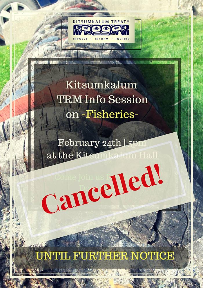CANCELLED: Kitsumkalum TRM Info. Session on Fisheries