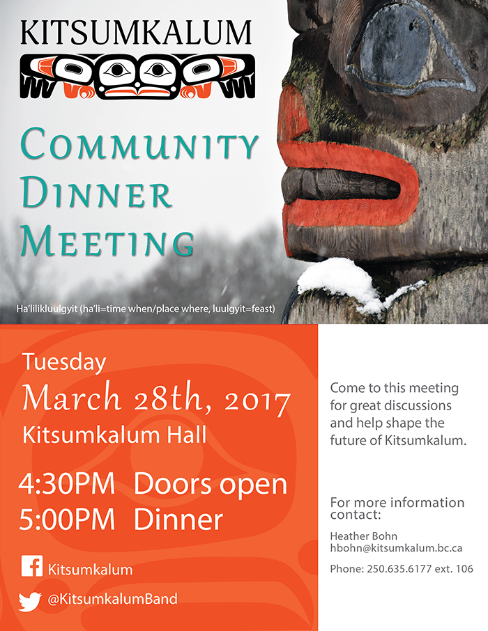 CCP Community Dinner Meeting March 28, 2017