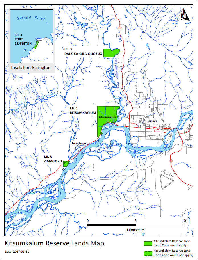 Kitsumkalum Reserve Lands