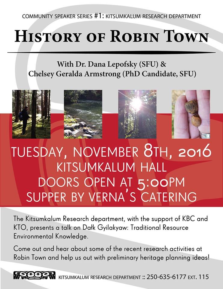 Community Speakers Series: History of Robin Town Nov. 8, 2016