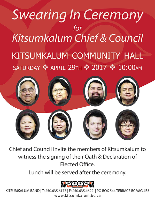 Swearing In Ceremony for Chief & Council 2017