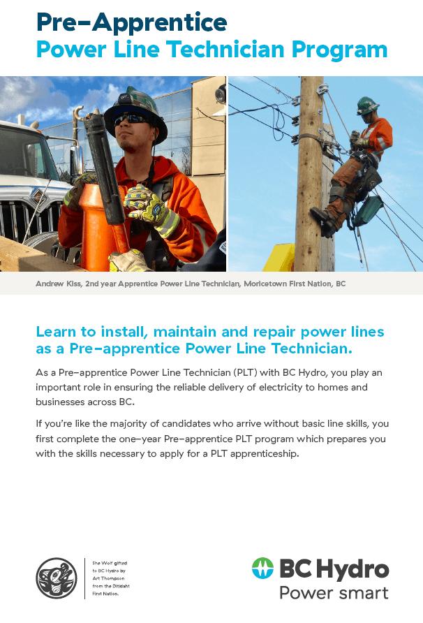Pre-Apprentice – Power Line Technician Program