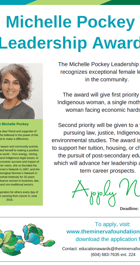 Michelle Pockey Award Kitsumkalum Post 2017