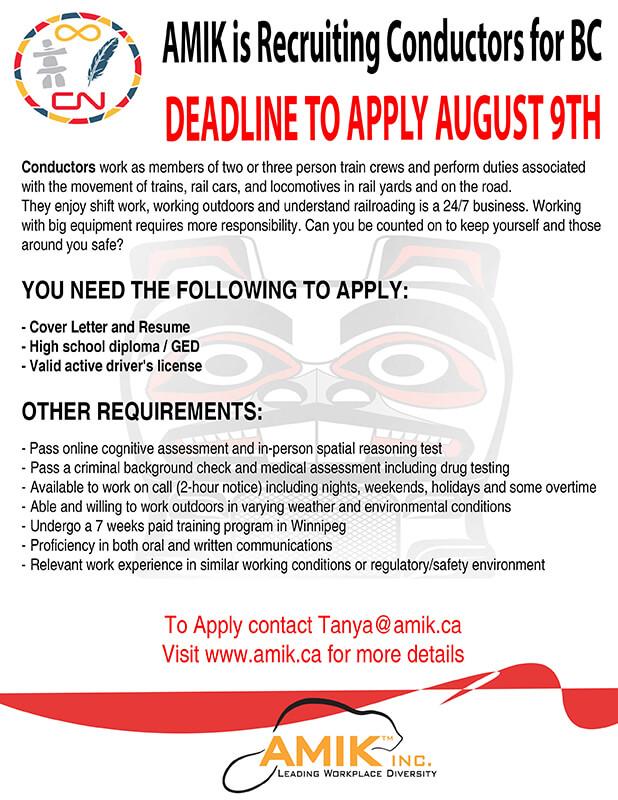 CN Rail Aboriginal Career Day August 9 - Smithers | Kitsumkalum, a ...