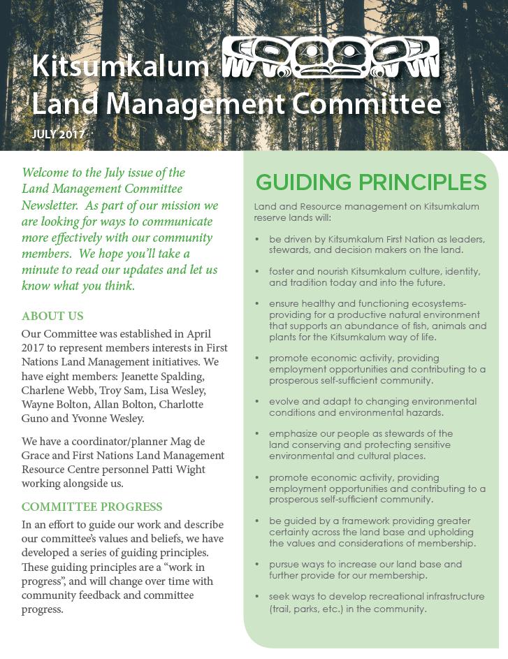 Kitsumkalum Land Committee Jully News2017