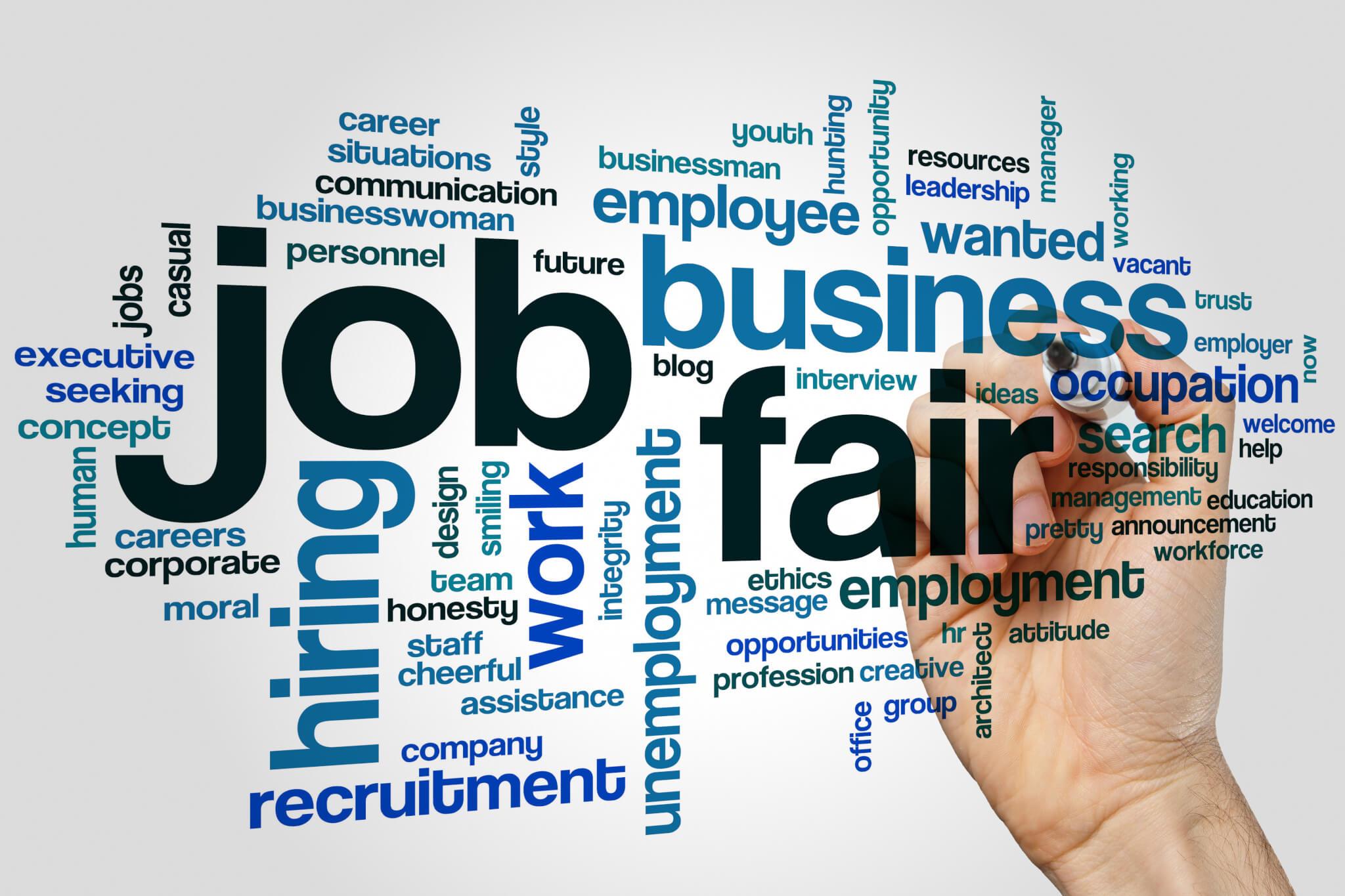 Job fair word cloud | Kitsumkalum, a Galts'ap (community) of