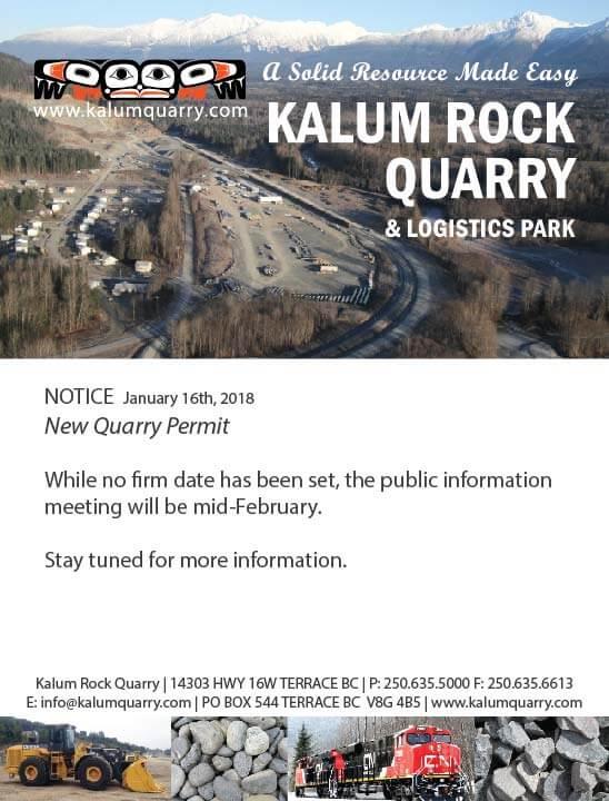 Kalum Rock Quarry Notice