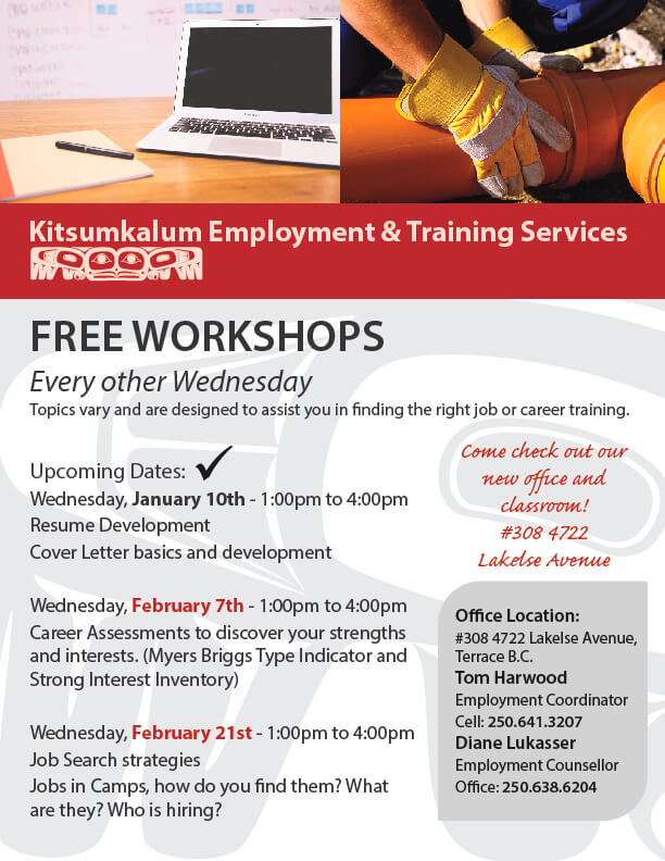 Free Employment and Training Workshops