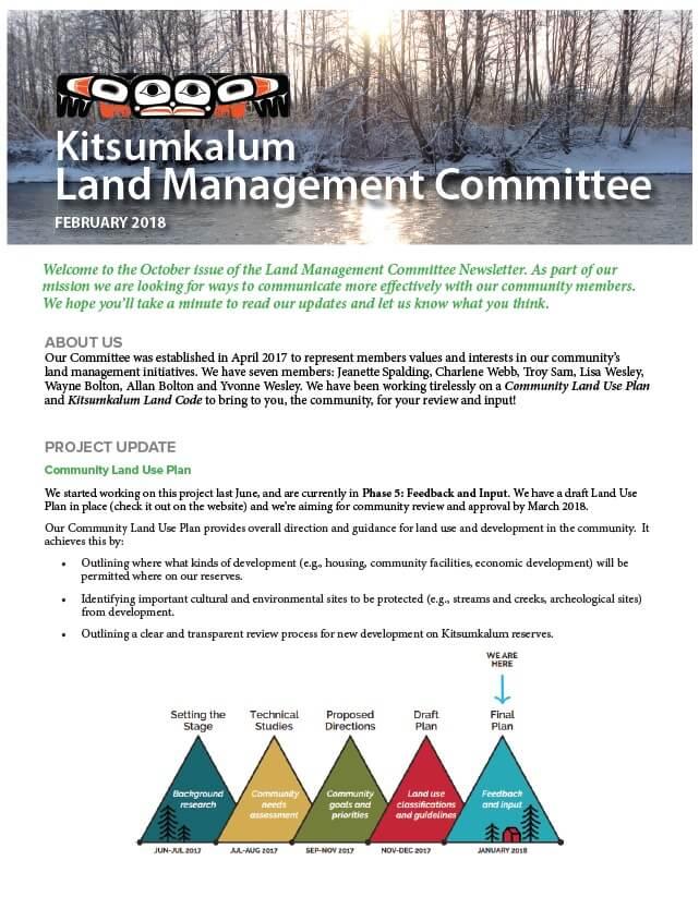 Kitsumkalum Land Management Committee Newsletter