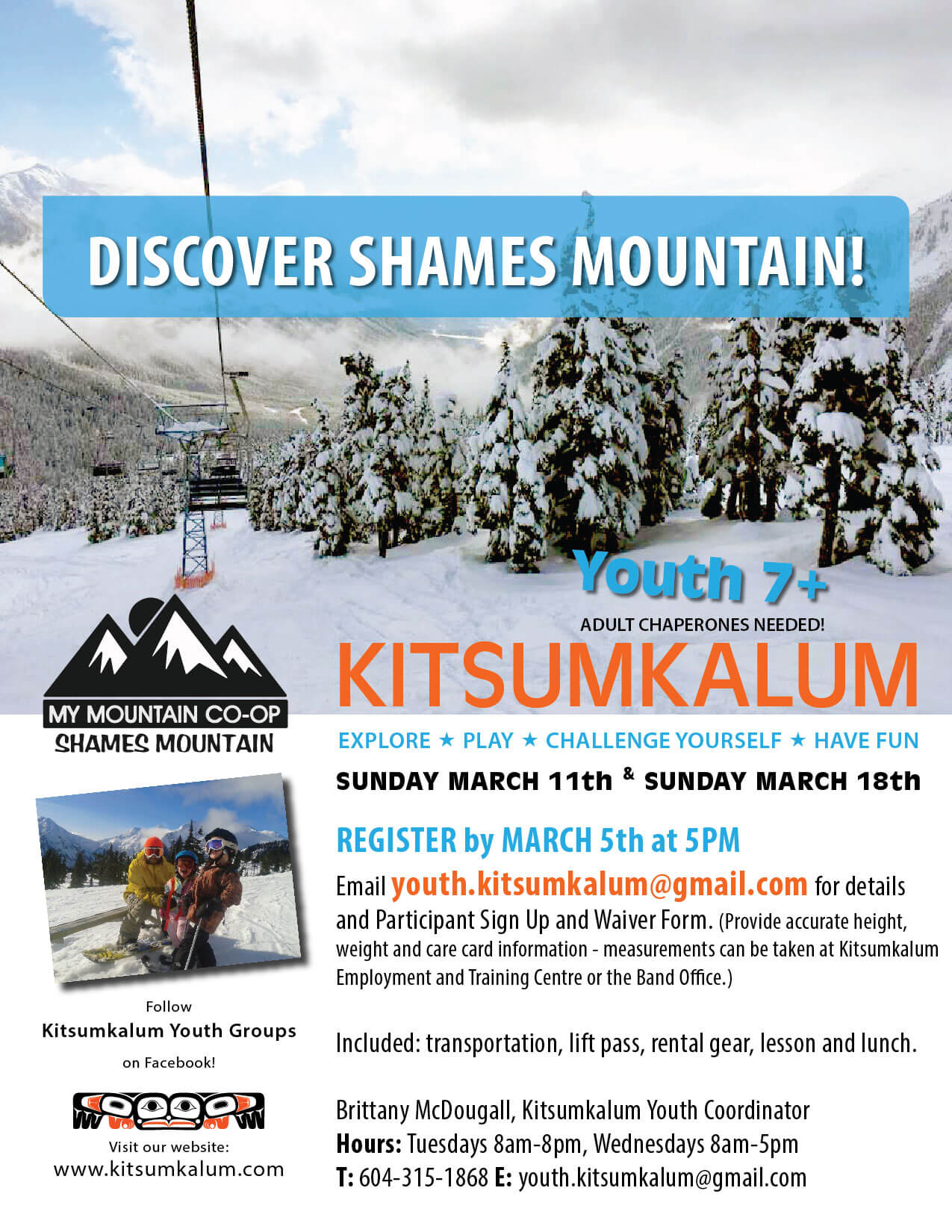 REGISTER by March 5th – Discover Shames Mountain
