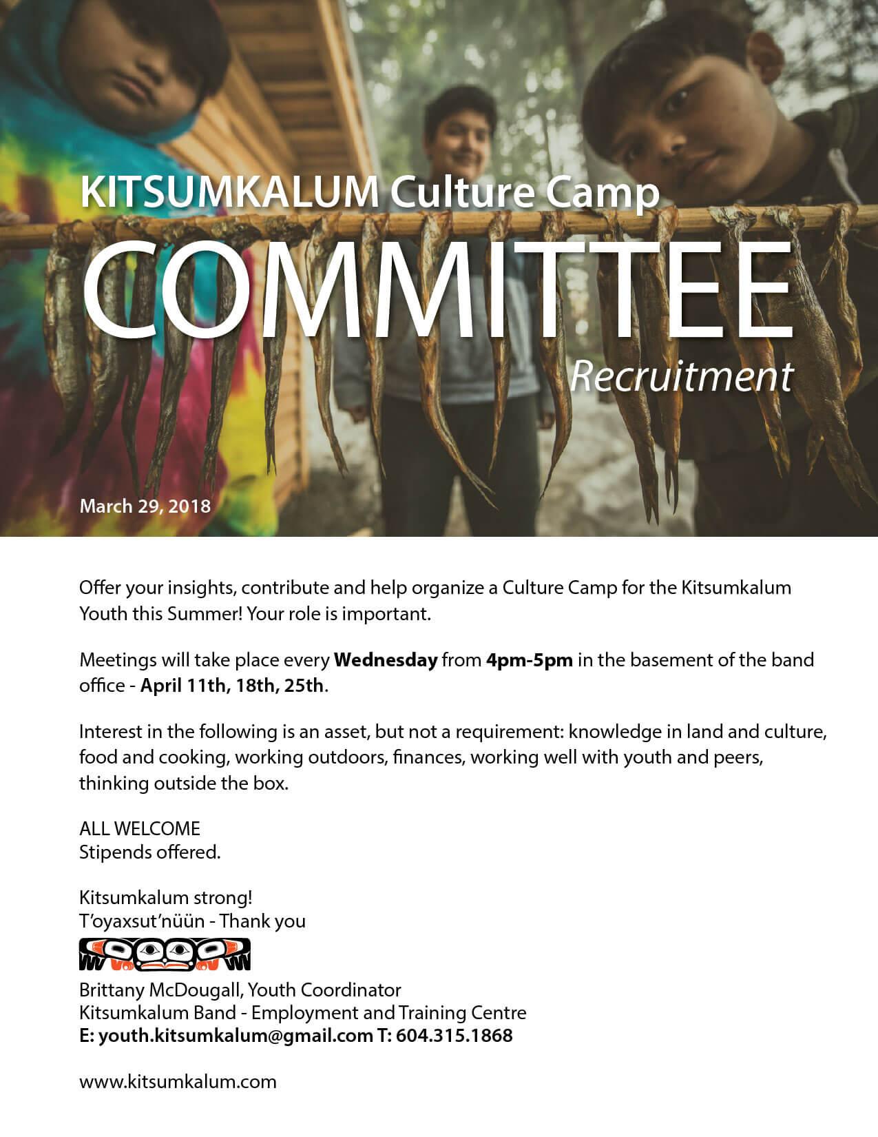 Culture Camp Committee Seeking Members