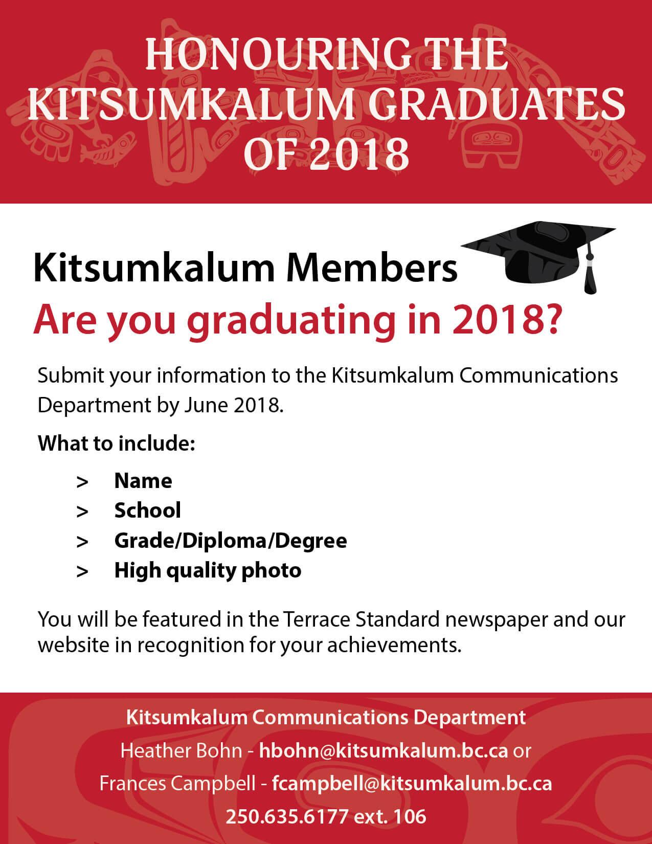 Honouring Kitsumkalum Graduates 2018