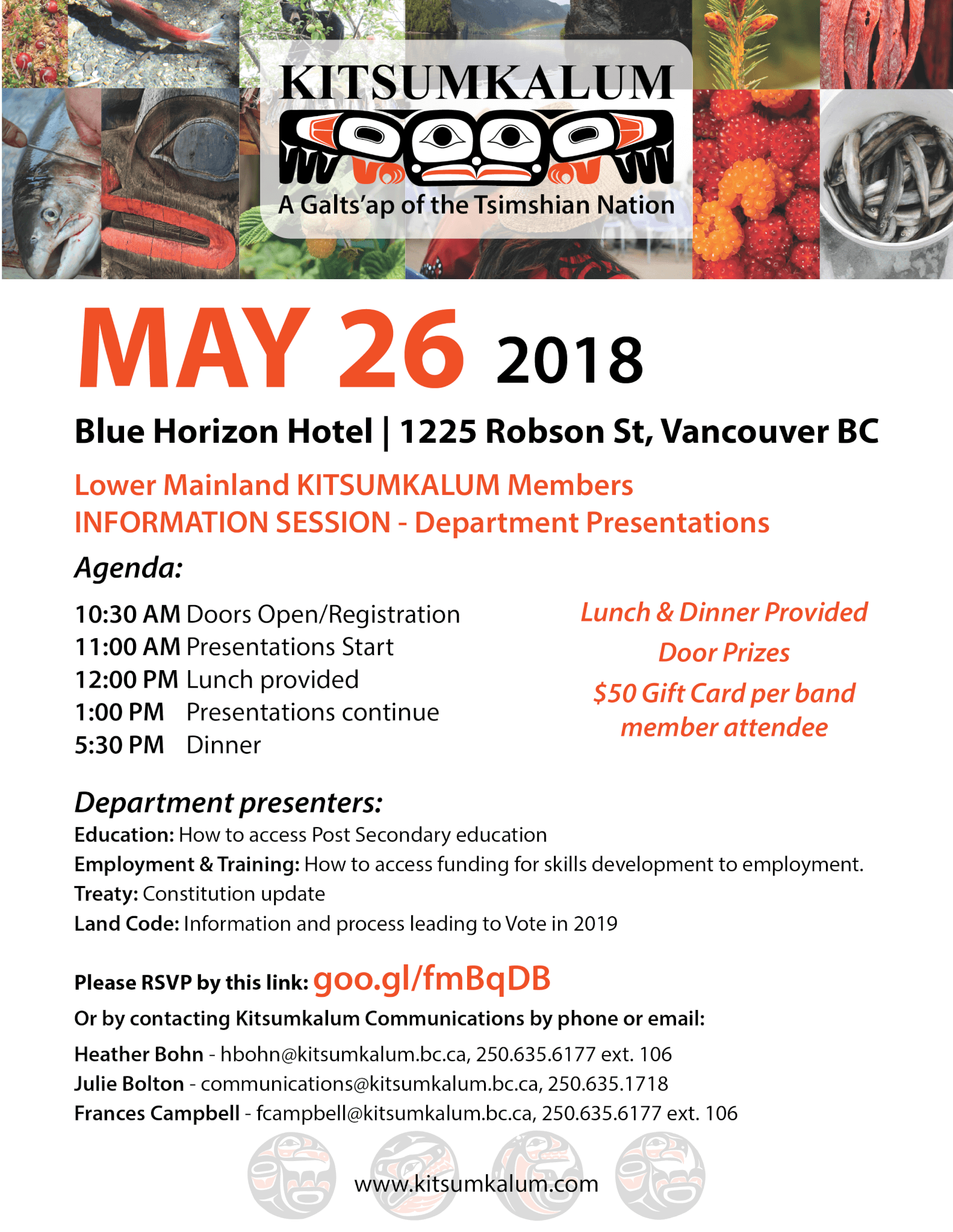 MAY 26th Kitsumkalum Info. Session for Lower Mainland Members