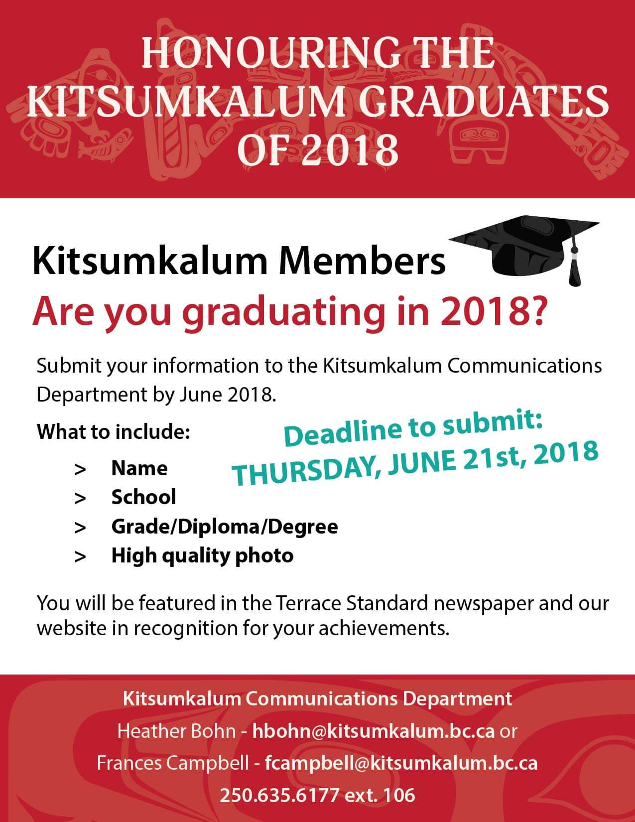 Graduating This Year? Submit Your Information by June 21st