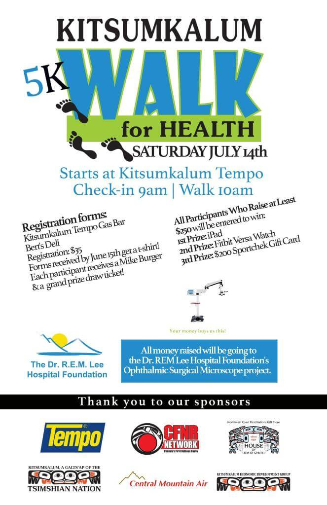 Kitsumkalum Walk for Health July 14, 2018