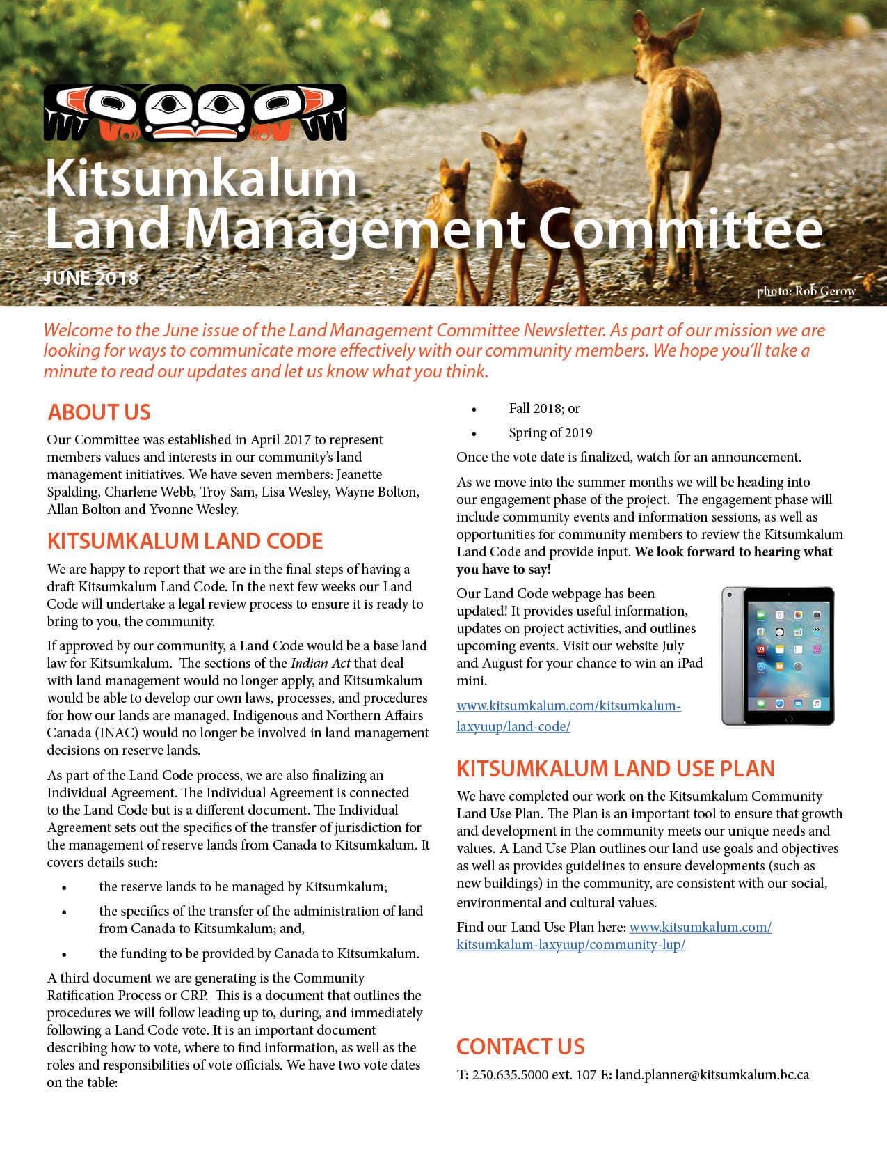 June Issue | Kitsumkalum Land Management Committee Newsletter