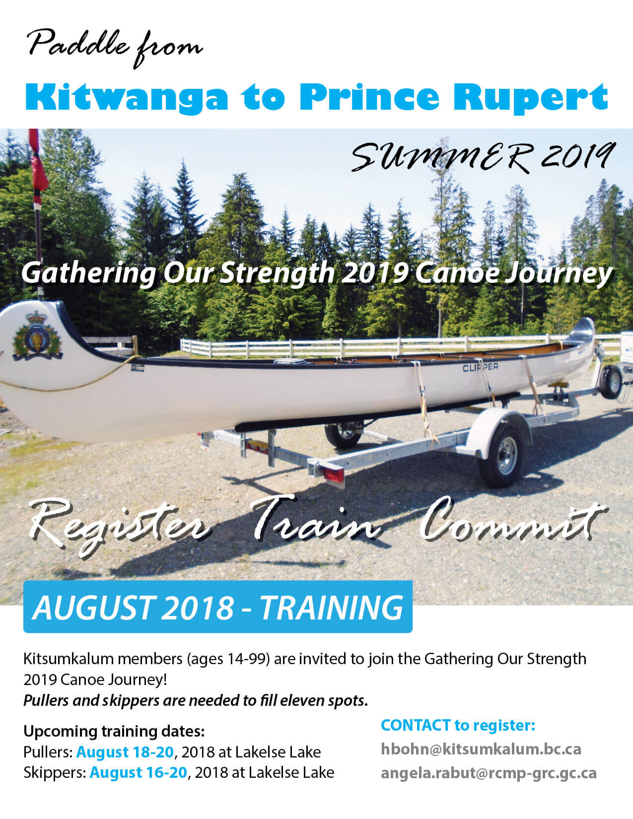 Gathering Our Strength Canoe Journey 2019 – Training in 2018
