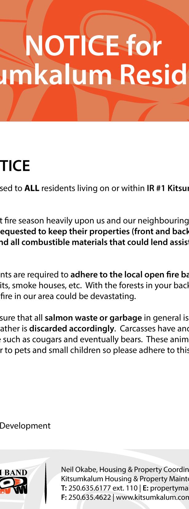 Housing & Property Maintenance | Kitsumkalum, a Galts'ap