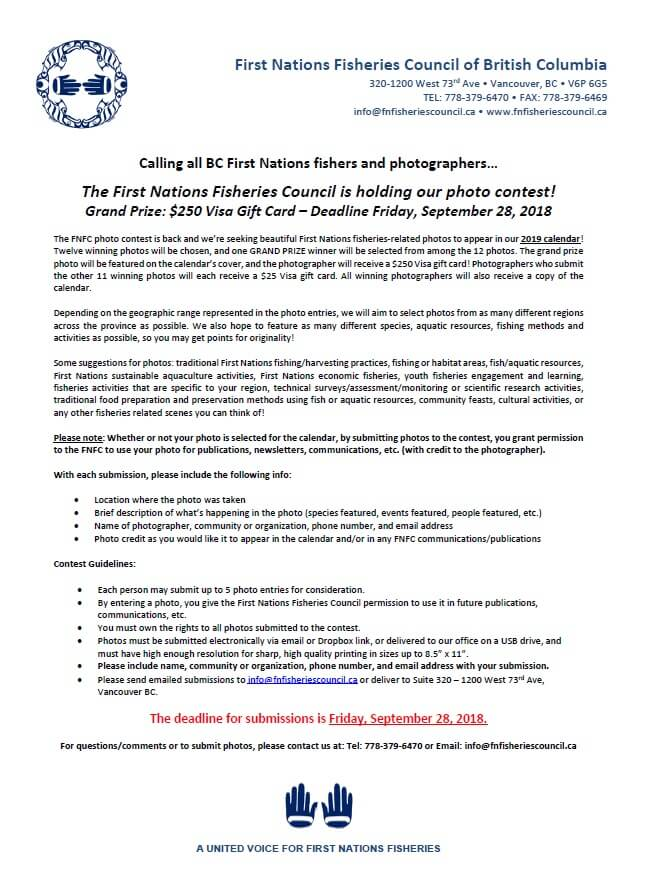 Photo Contest – First Nation Fisheries Council of BC