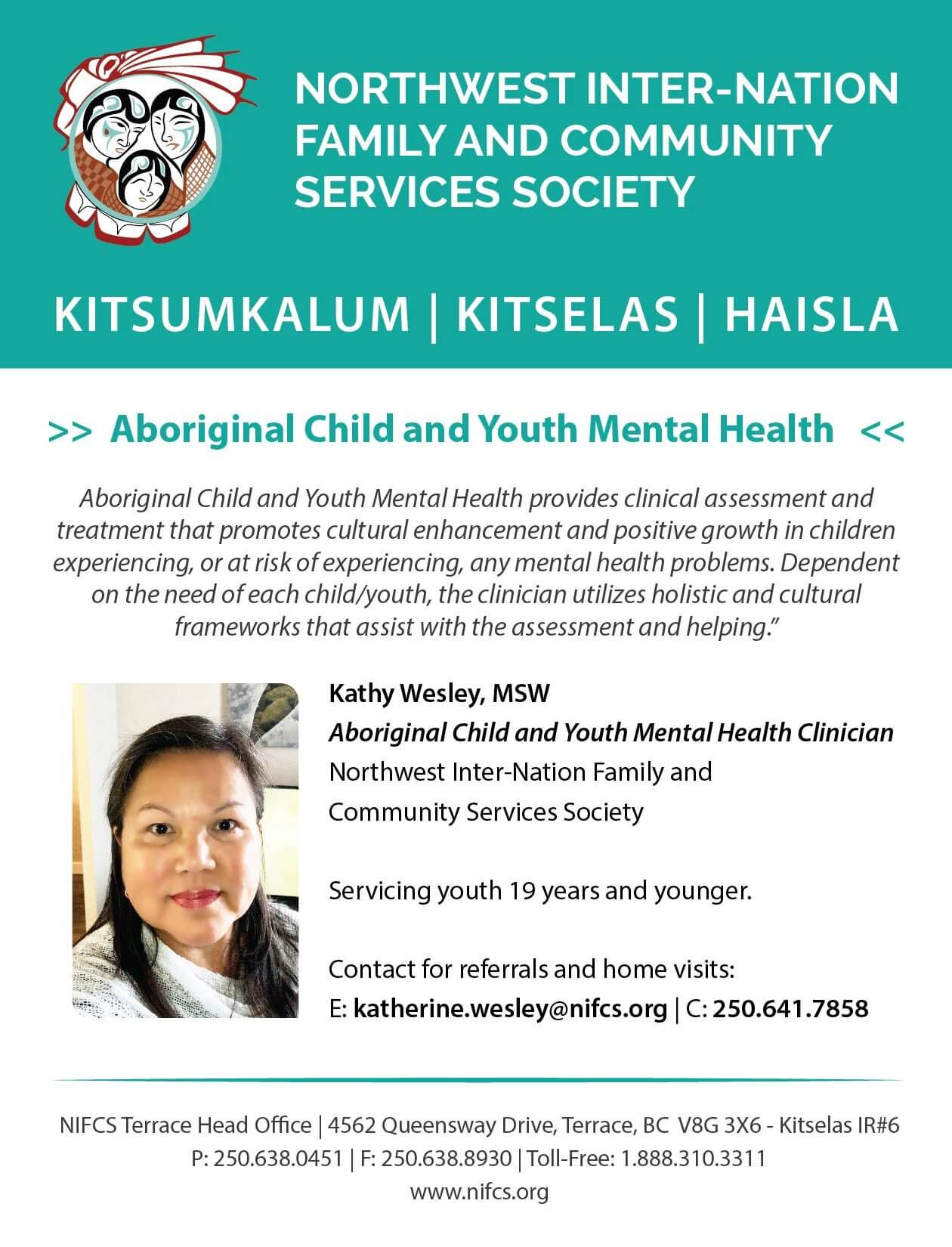 Aboriginal Child And Youth Mental Health Nifcs Kitsumkalum A Galts Ap Community Of The Tsimshian Nation
