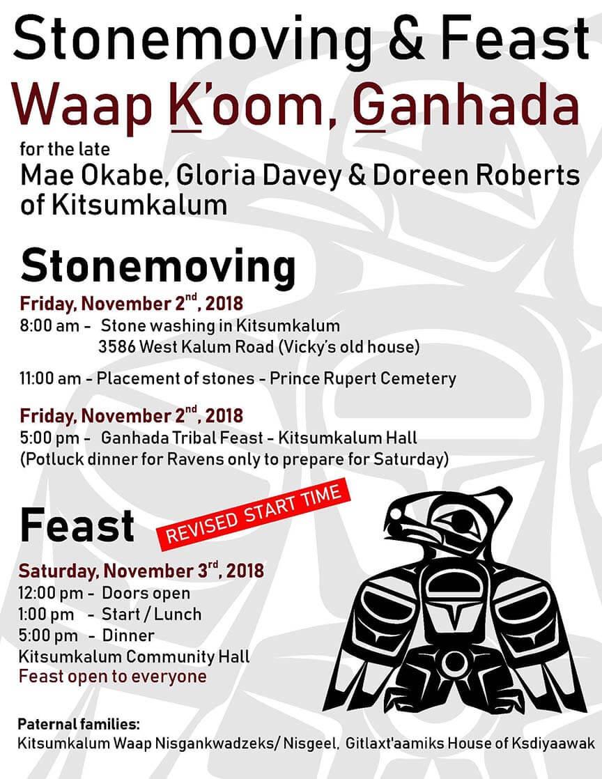 Stonemoving & Feast – Waap K'oom, Ganhada