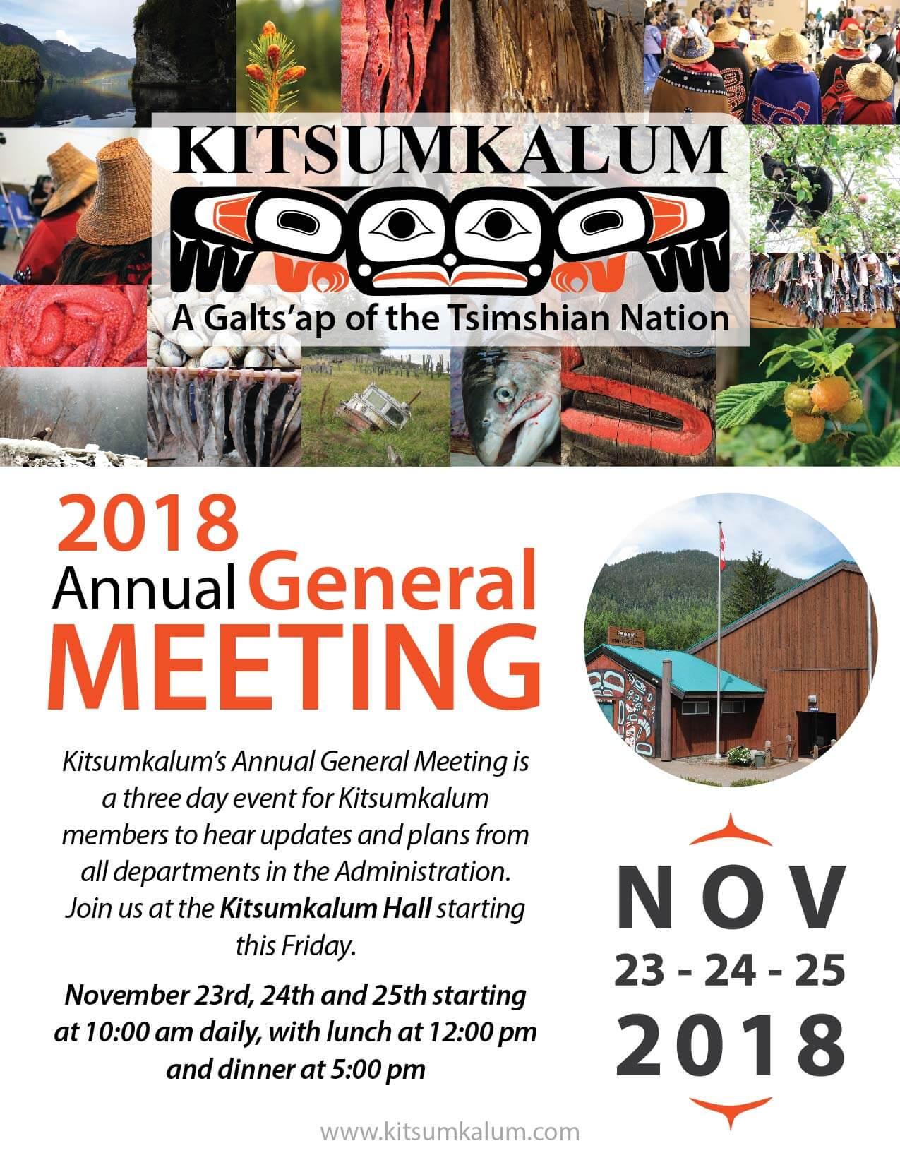 Kitsumkalum AGM NOV 23-24-25, 2018
