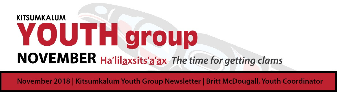 Youth Group Newsletter and November Calendar