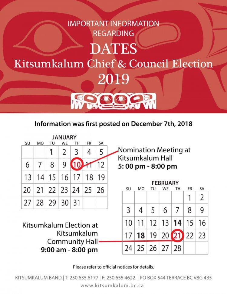 Reminder: Election information