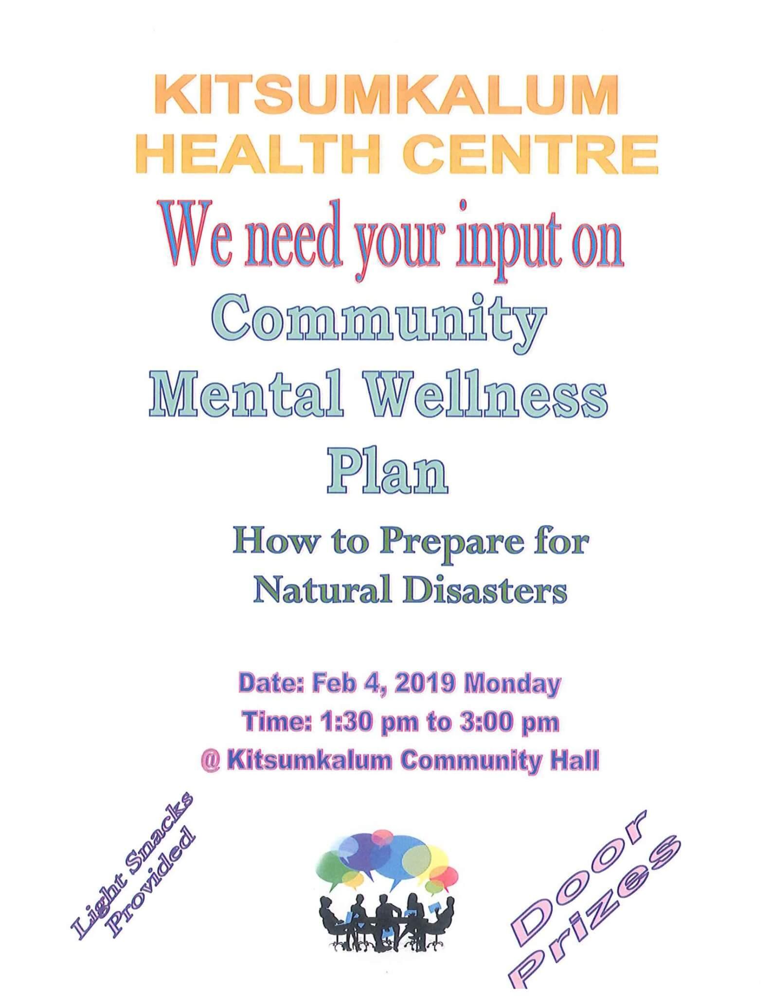 Kitsumkalum Health Seeking Input – Community Wellness Plan