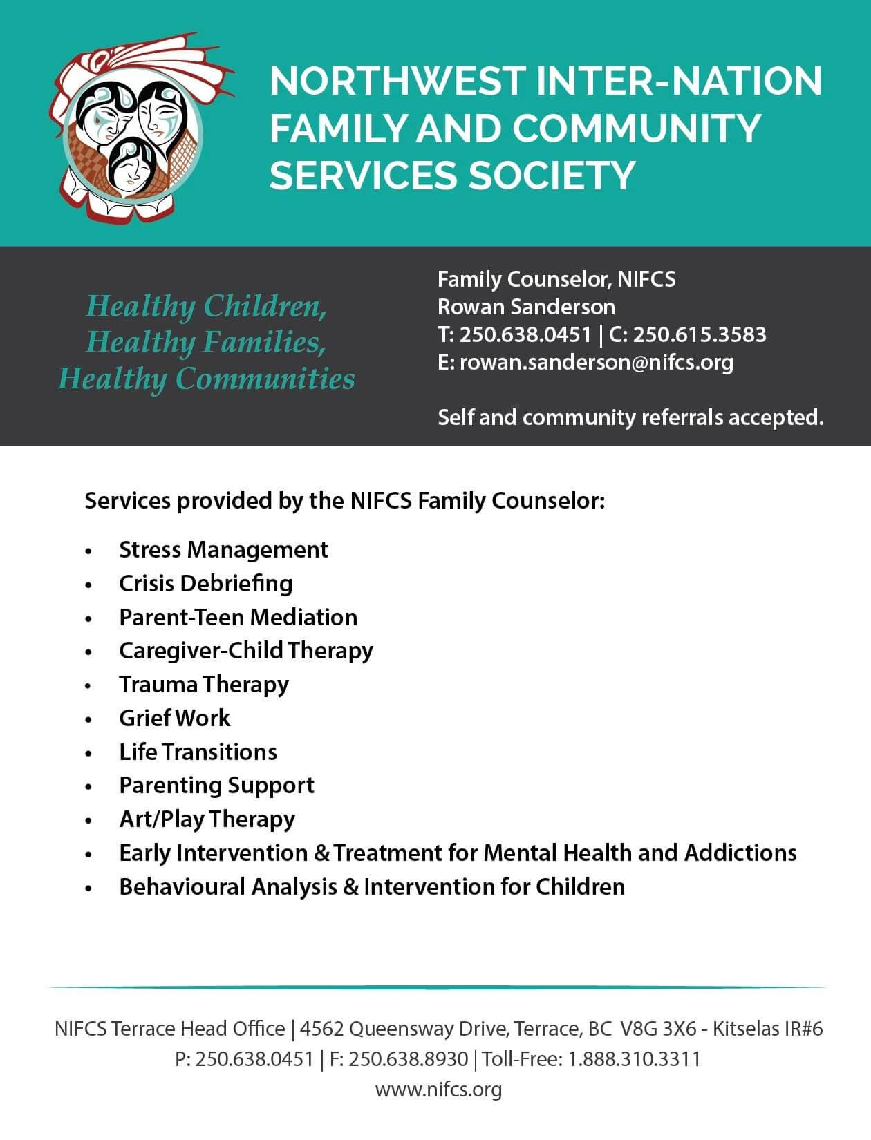 Services Provided by the NIFCS Family Counselor ...