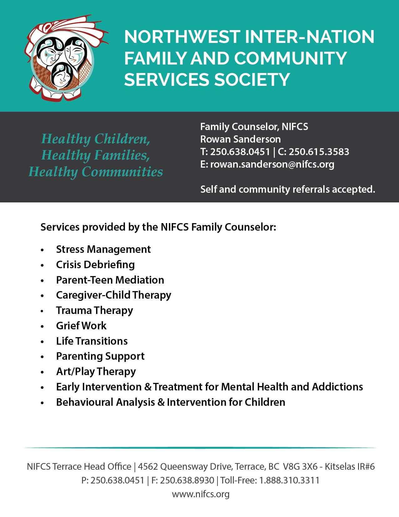 Services Provided by the NIFCS Family Counselor