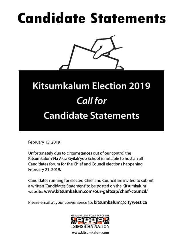 February 21, 2019 Candidates Statements