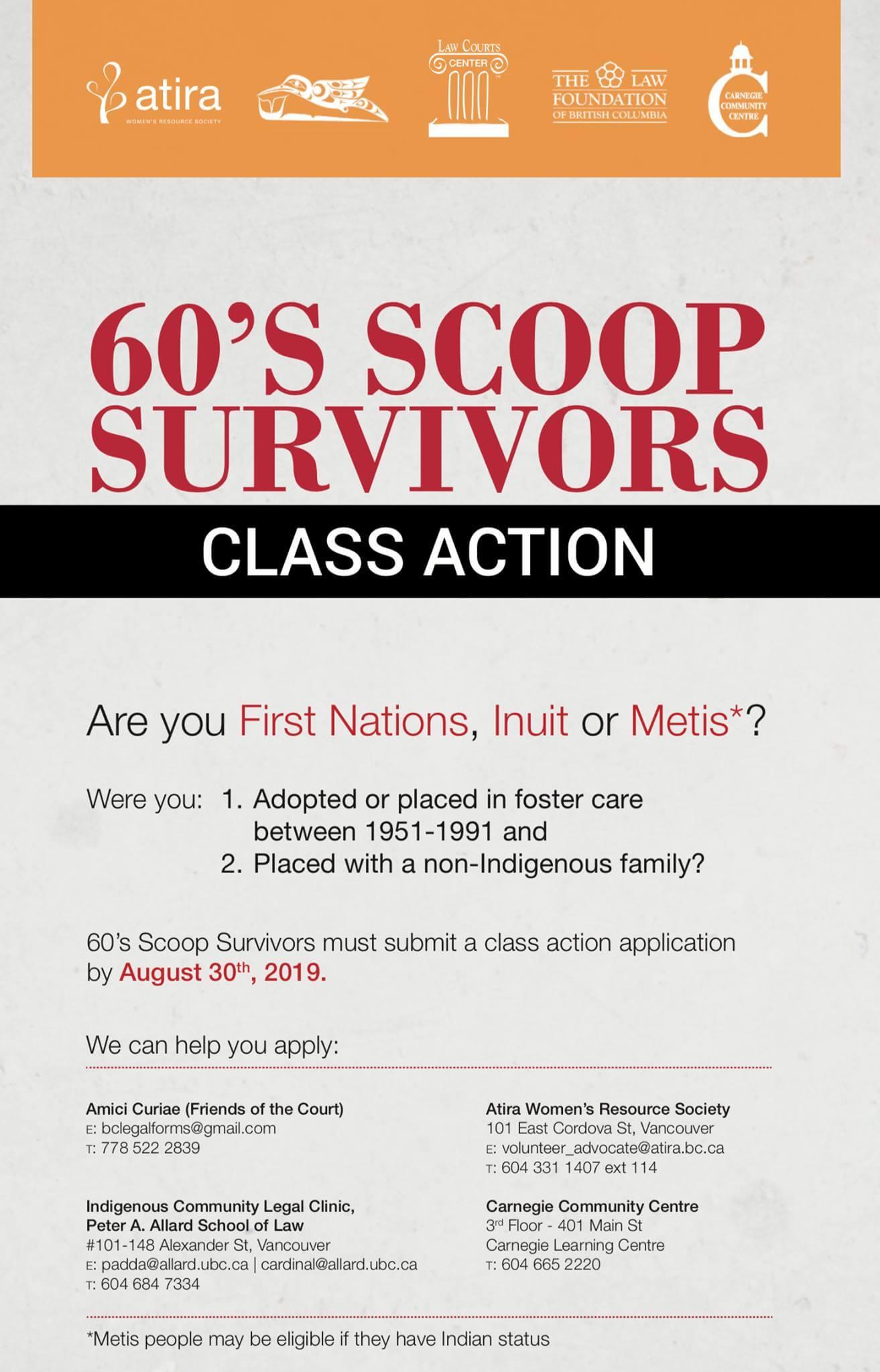 60's Scoop Survivors Class Action