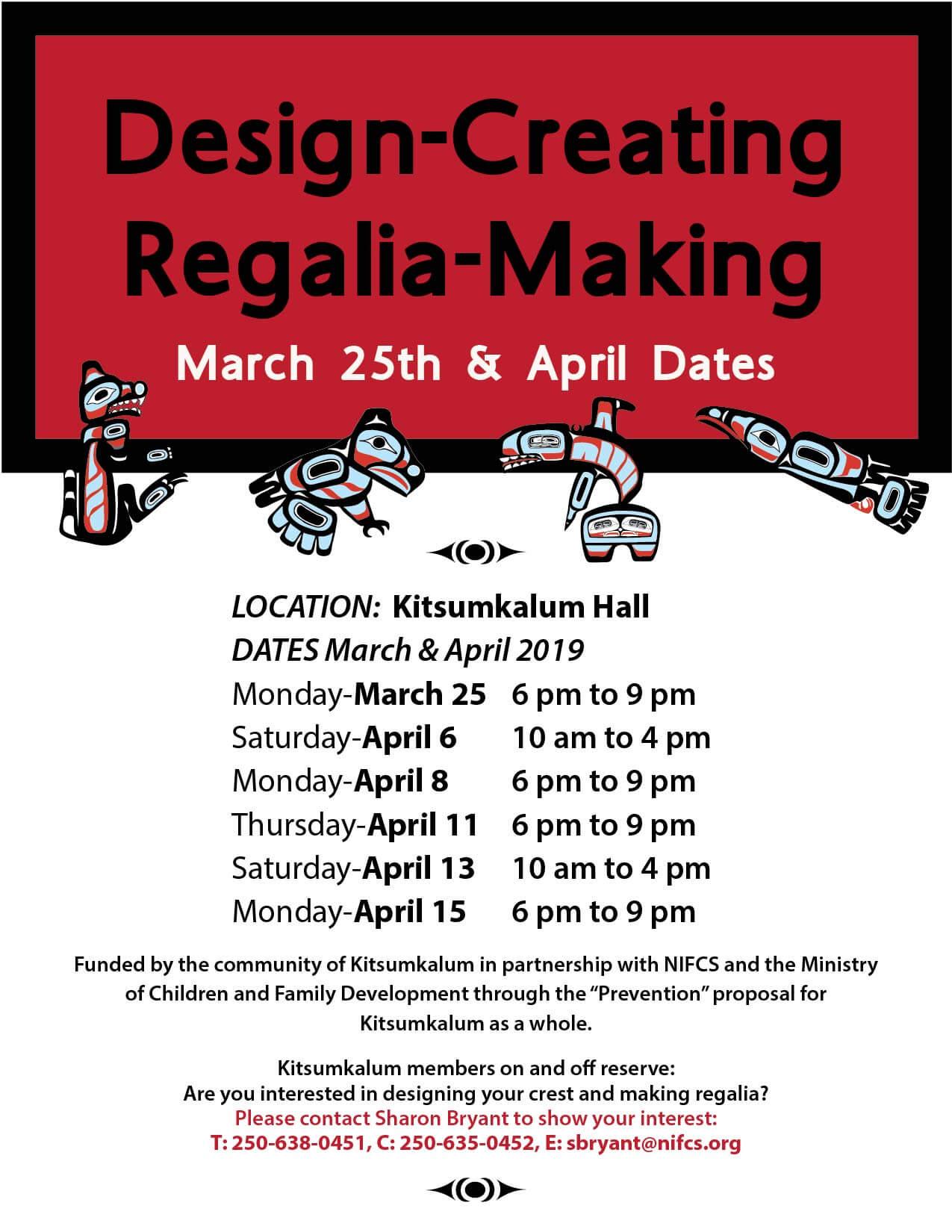 Design Creating Regalia Making APRIL 11
