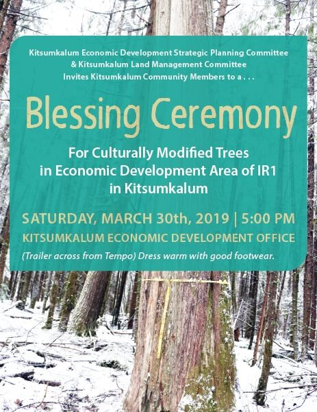 Blessing Ceremony for Kitsumkalum CMTs March 30
