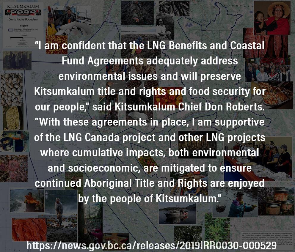 Kitsumkalum Band Council Announcement: Finalized LNG Benefits Agreement