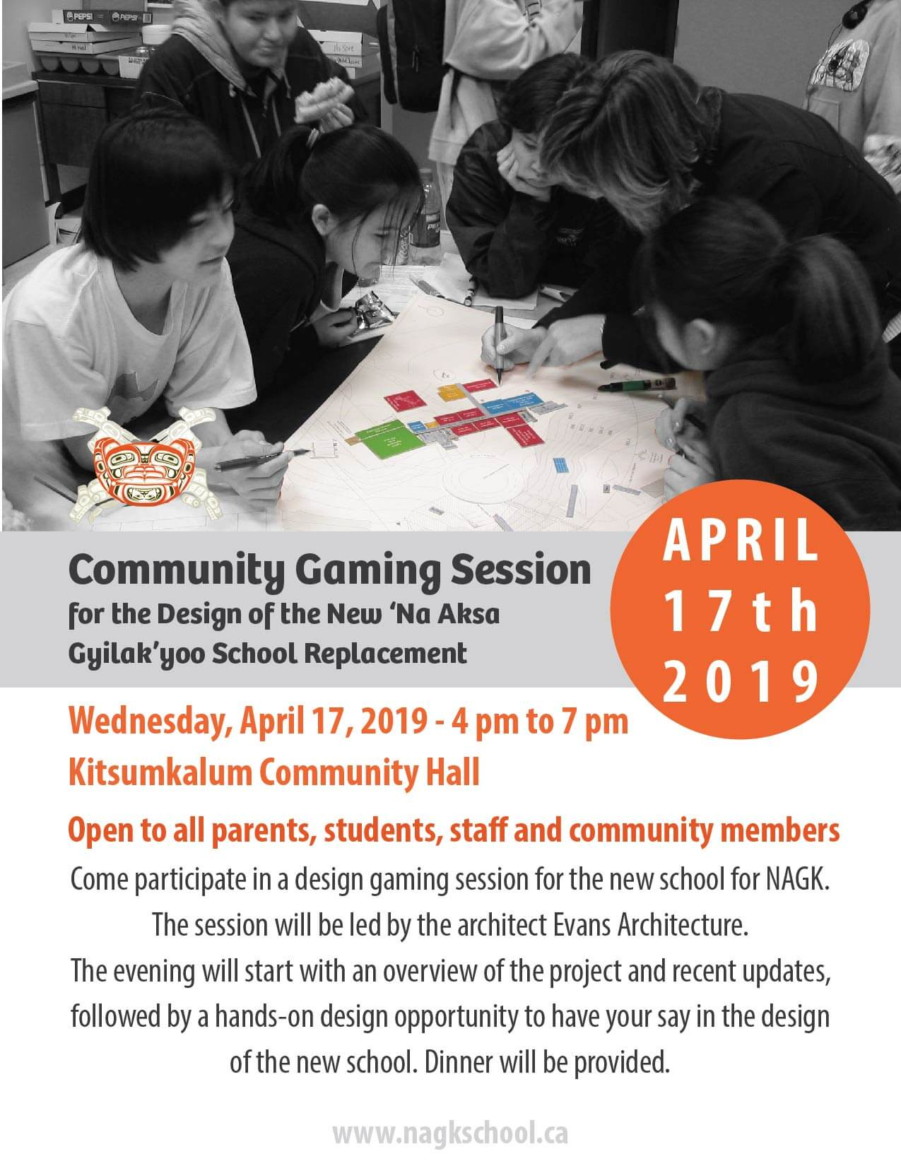 Community Gaming Session – Designing the New NAGK School APRIL17