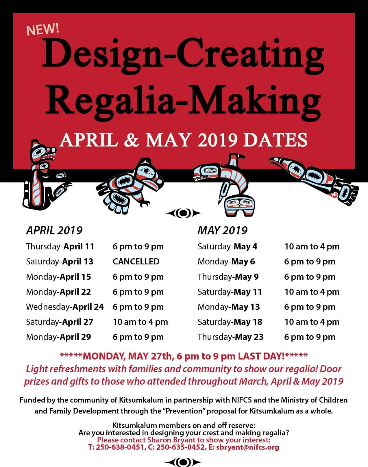 Design Creating Regalia Making APRIL 22