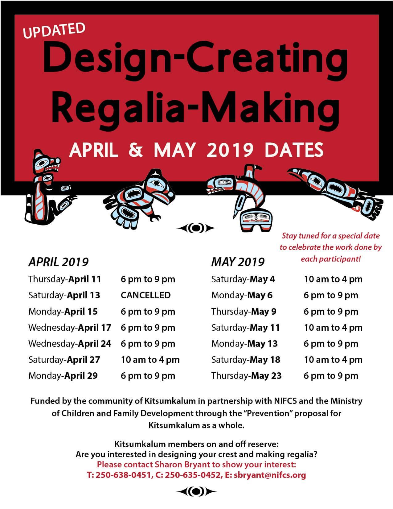 Design Creating Regalia Making APRIL 15
