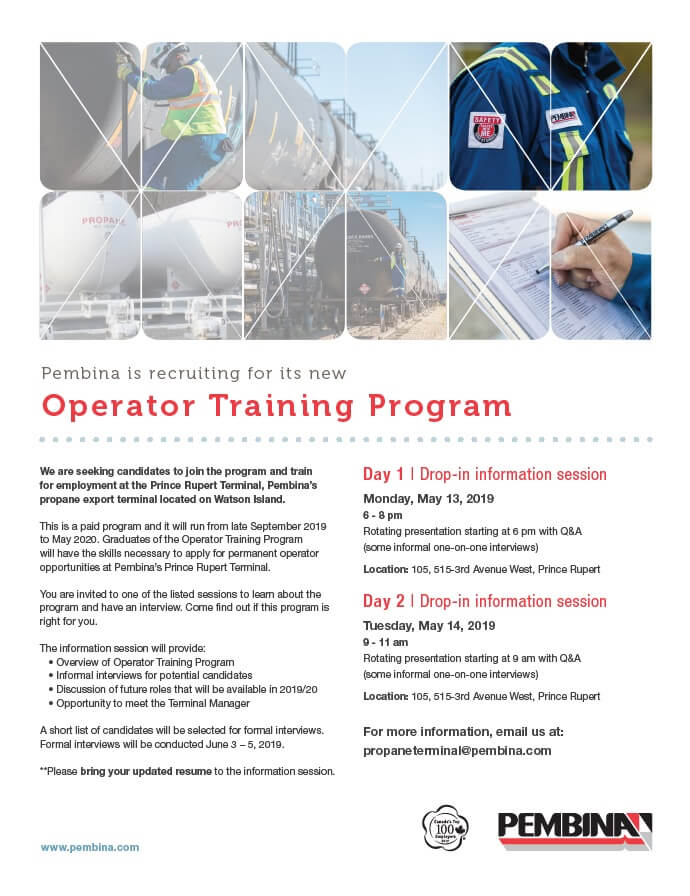 Operator Training Program Information Sessions in May