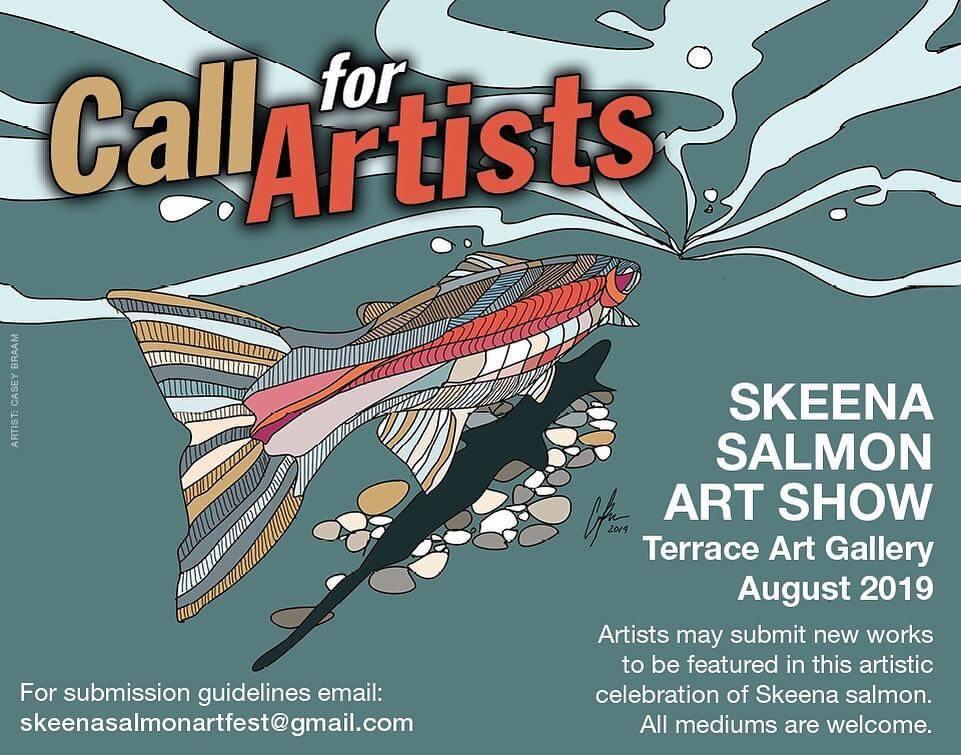 Call for Artists - Skeena Salmon Art Show | Kitsumkalum, a Galts'ap