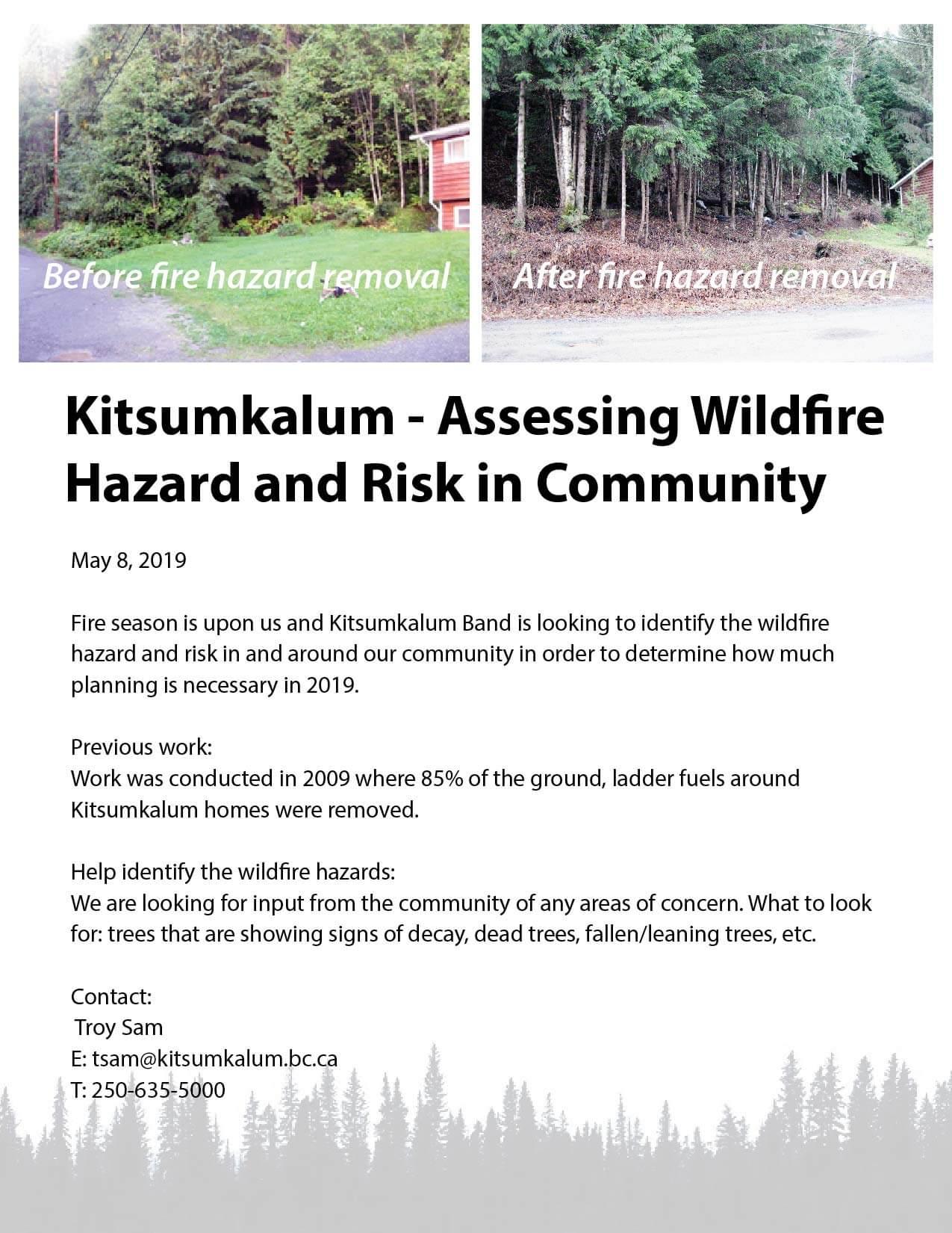 Call for Input – Kitsumkalum Assessing Fire Hazard and Risk in Community