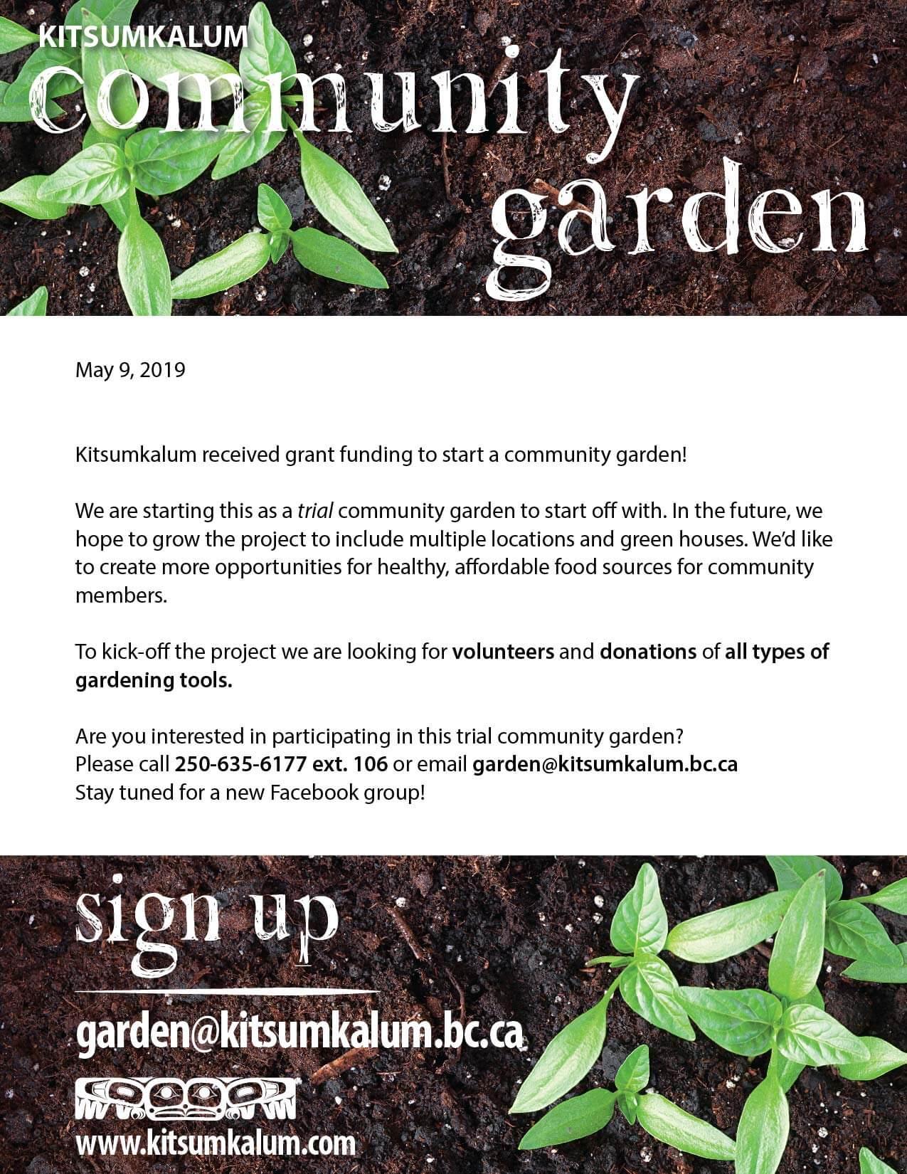 Kitsumkalum Community Garden