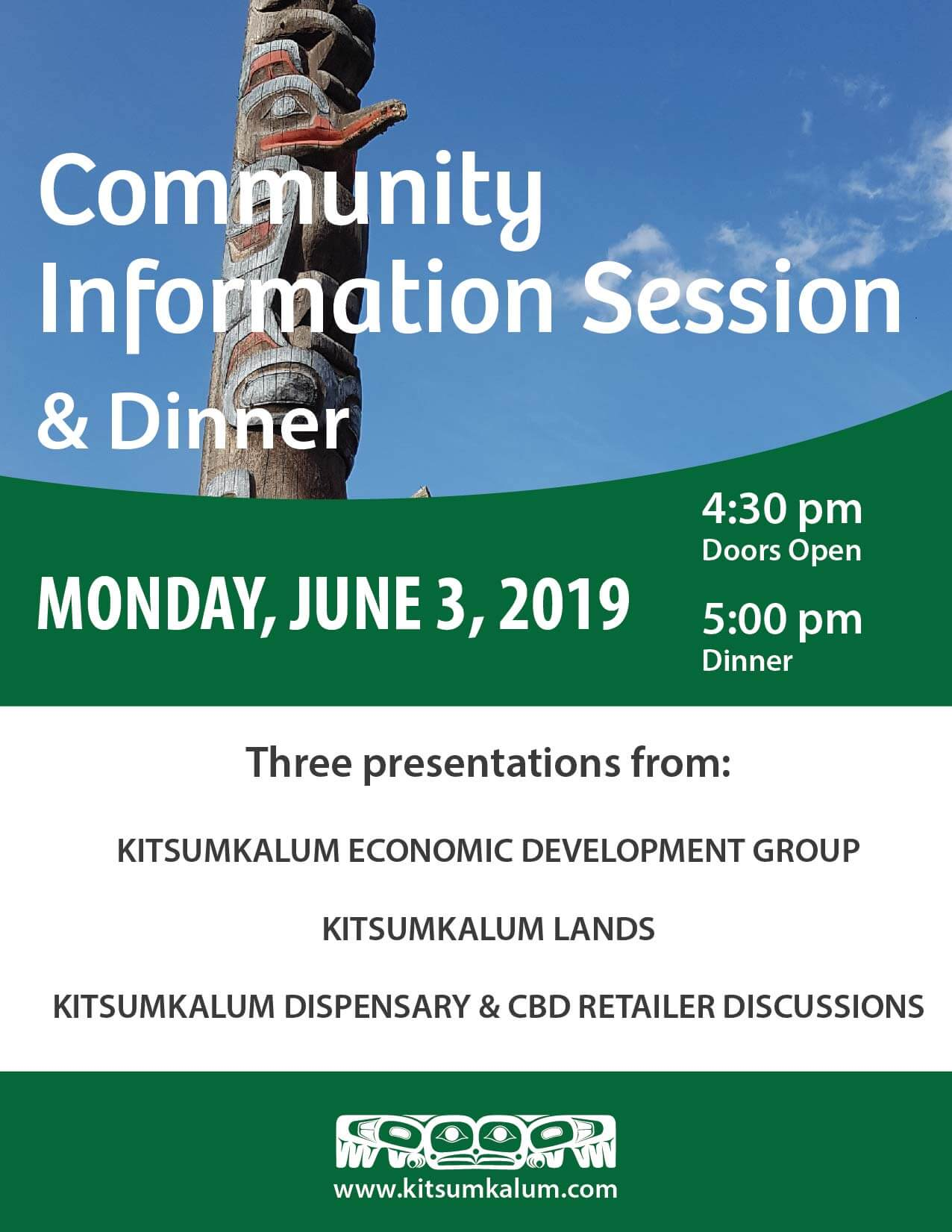Community Information Session and Dinner JUNE 3