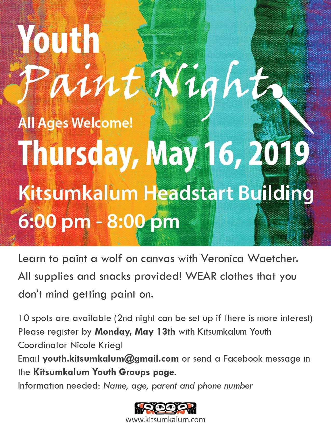 Youth Paint Night – May 16th