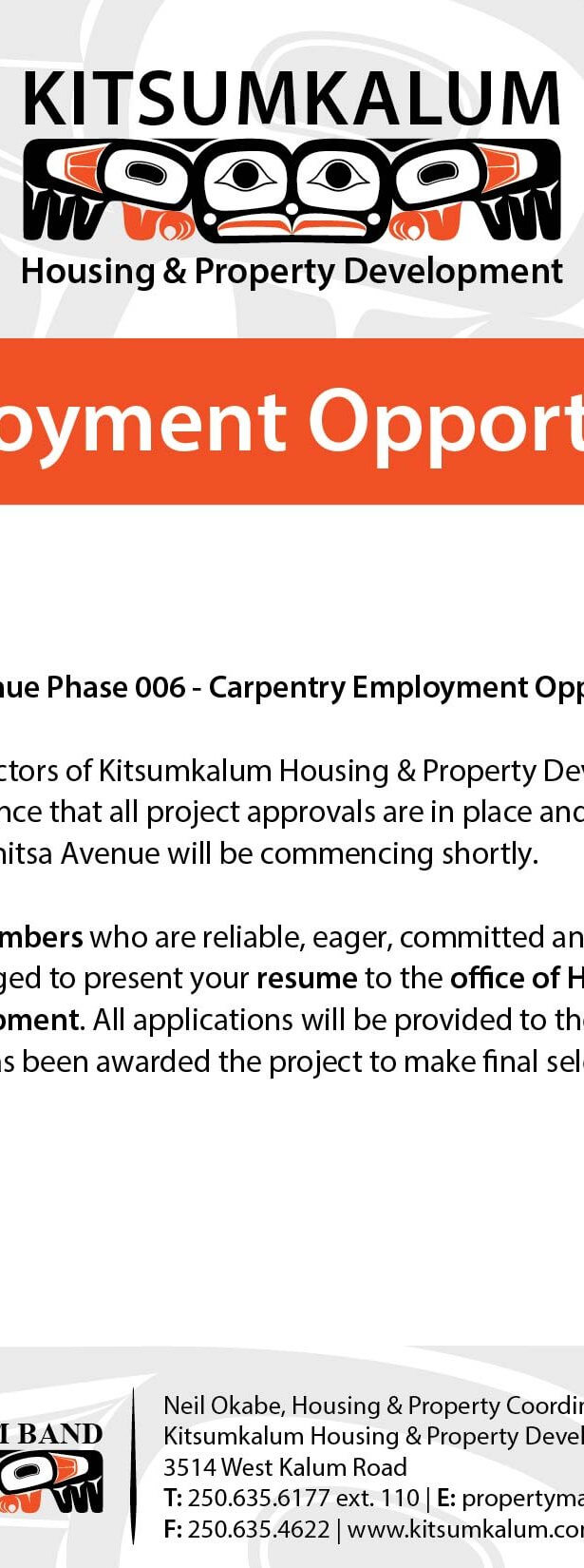 Housing & Property Maintenance   Kitsumkalum, a Galts'ap